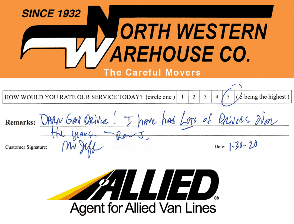 North Western Warehouse Allied Movers Review