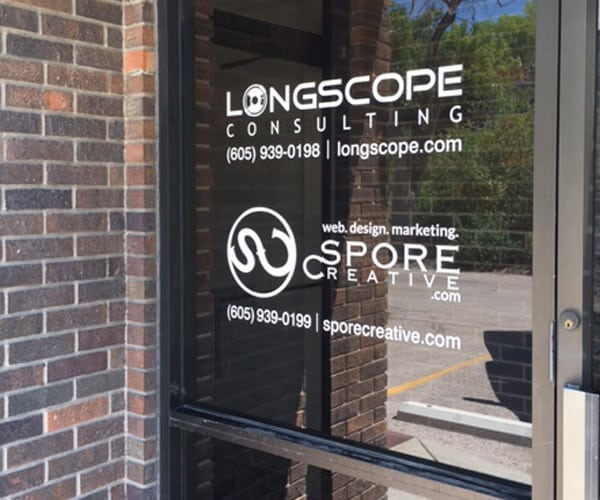 Longscope Consulting Vinyl Sign Lettering