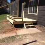 basic deck with bench seating