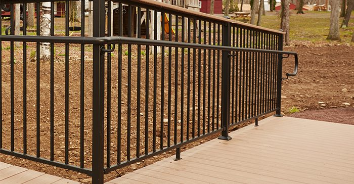 metal fortress deck railing