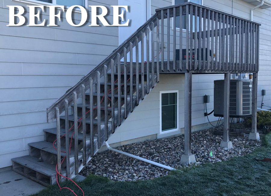 Rotten Wood Deck Before