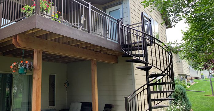 custom metal deck railing