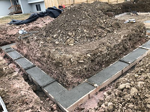 Concrete Footings and Dirt work