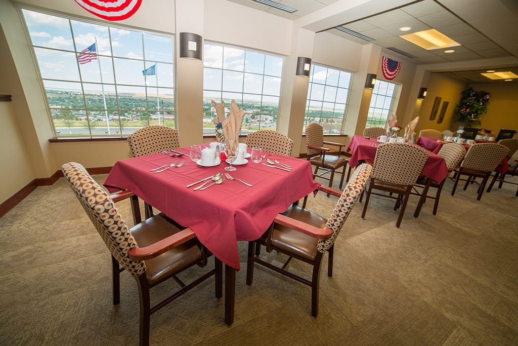 Main Dining Area with a view at The Village at Skyline Pines