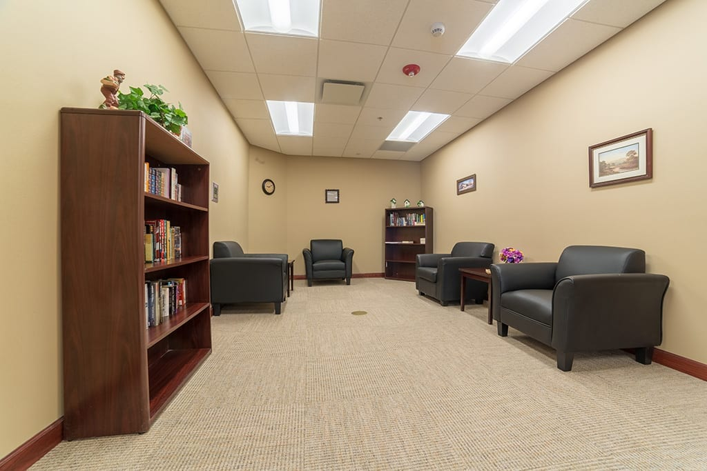 Library and Reading Area at The Village at Skyline Pines