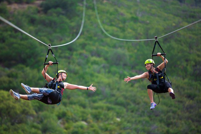 Ride the Rushmore Tramway zipline or any of their other adventures only a few minutes from Yak Ridge Cabins and Farmstead