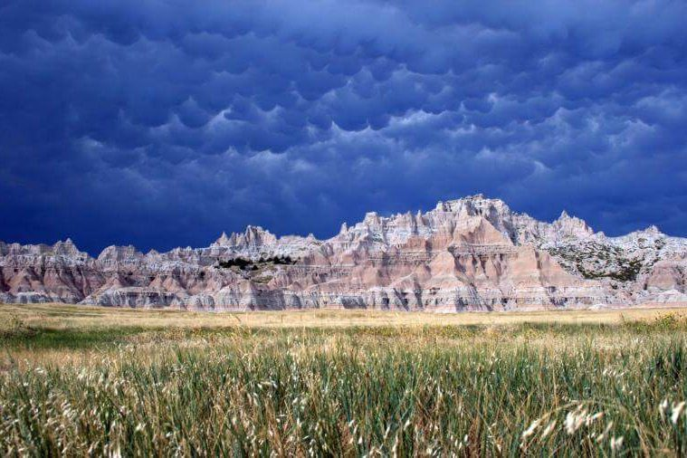 Badlands National Park offers stunning landscapes and is only an hour from Yak Ridge Cabins and Farmstead