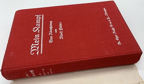 """ADOLF HITLER SIGNED 1928 3rd EDITION """"MEIN KAMPF"""" WITH RARE ORIGINAL DUST JACKET"""