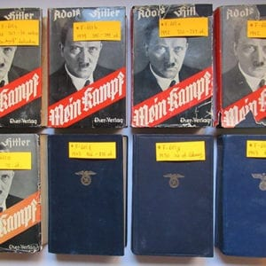 "1930-1943 PEOPLE'S EDITIONS OF ADOLF HITLERS ""MEIN KAMPF"""