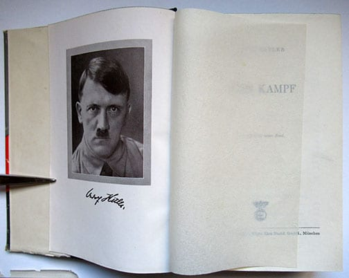 "1930-1943 PEOPLE'S EDITIONS OF ADOLF HITLERS ""MEIN KAMPF"" F-601d"