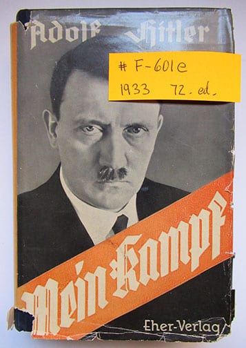 "1930-1943 PEOPLE'S EDITIONS OF ADOLF HITLERS ""MEIN KAMPF"" F-601e"