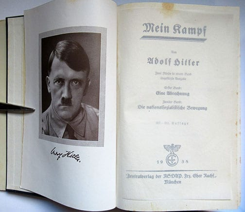 """1930-1943 PEOPLE'S EDITIONS OF ADOLF HITLERS """"MEIN KAMPF"""" F-601a"""