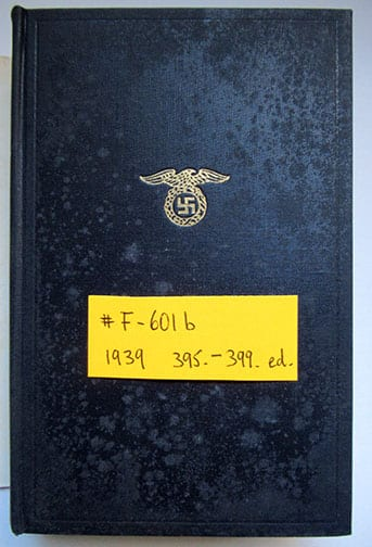 "1930-1943 PEOPLE'S EDITIONS OF ADOLF HITLERS ""MEIN KAMPF"" F-601b"