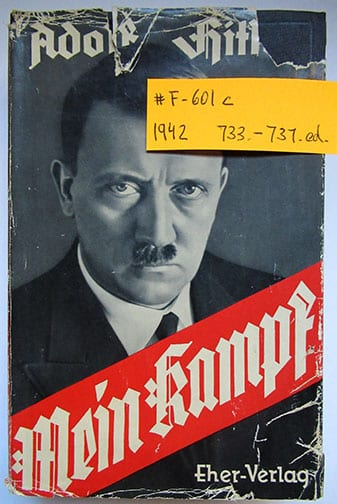 "1930-1943 PEOPLE'S EDITIONS OF ADOLF HITLERS ""MEIN KAMPF"" F-601c"