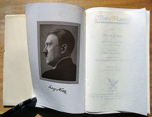 """1932 PEOPLE'S EDITION OF ADOLF HITLERS """"MEIN KAMPF"""" WITH RARE DUST JACKET"""