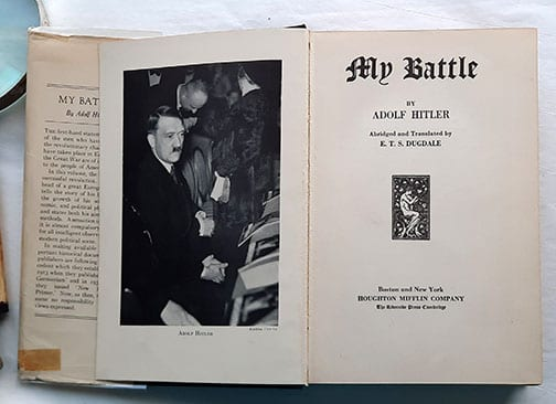 """1933 FIRST AMERICAN EDITION OF ADOLF HITLERS """"MEIN KAMPF"""""""