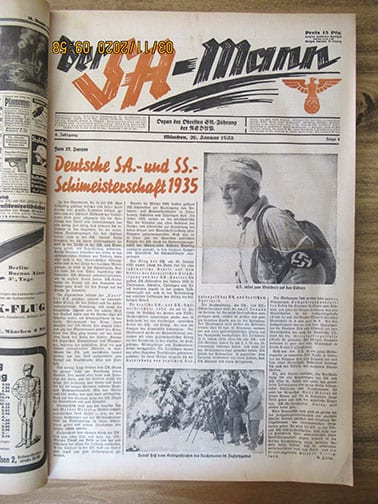 1935 BOUND OFFICIAL NEWSPAPER OF THE S.A.