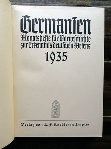 1935 SS-AHNENERBE GENEALOGICAL MAGAZINES