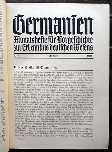 1936 SS-AHNENERBE GENEALOGICAL MAGAZINES