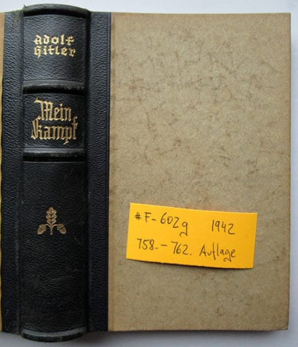 "1937-1943 WEDDING EDITIONS OF ADOLF HITLERS ""MEIN KAMPF"" F-602g"
