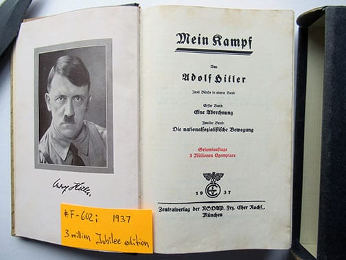 "1937-1943 WEDDING EDITIONS OF ADOLF HITLERS ""MEIN KAMPF"" F-602i"