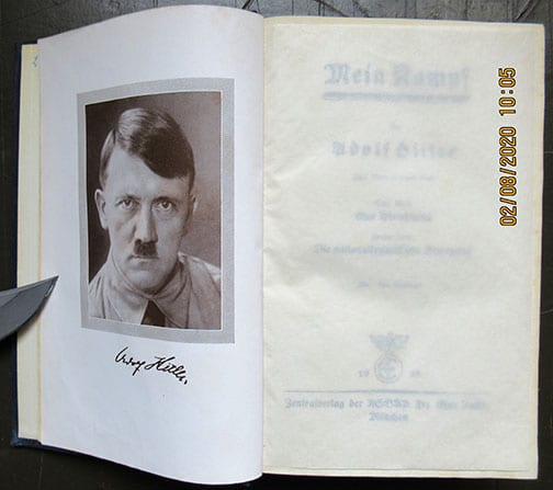 """1938 PEOPLE'S EDITION OF ADOLF HITLERS """"MEIN KAMPF"""""""