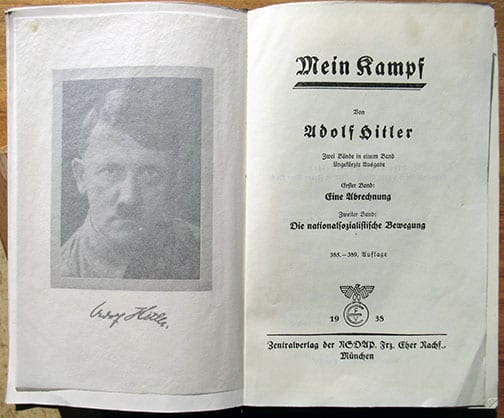 "1938 WEDDING EDITION OF ""MEIN KAMPF"""