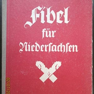 1939 'PATRIOTIC' NAZI SCHOOL BOOK FOR LOWER SAXONIA