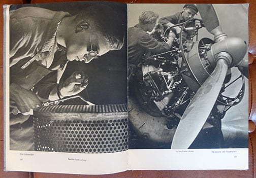 1940 JUNKERS AIRPLANE MANUFACTURER PHOTO BOOK
