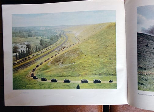1941 FULL COLOR WEHRMACHT / PANZER PHOTO BOOK