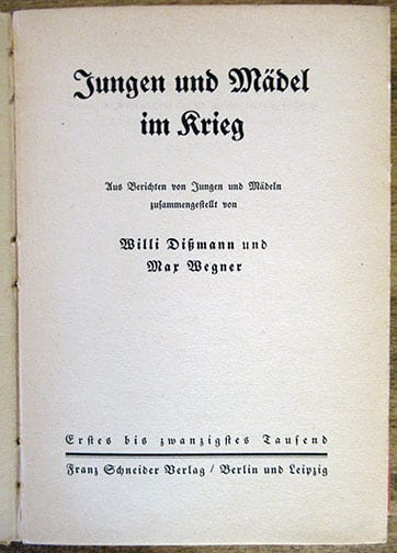 1941 PHOTO BOOK ON HITLER YOUTH AND BDM IN WAR TIMES