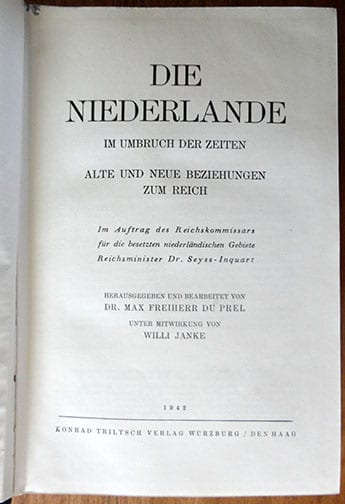 1941 PHOTO BOOK ABOUT DUTCH SS VOLUNTEERS AND OCCUPIED HOLLAND