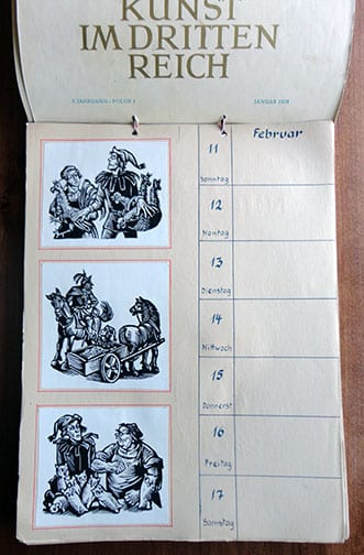 WALL CALENDAR FOR THE YEAR 1945