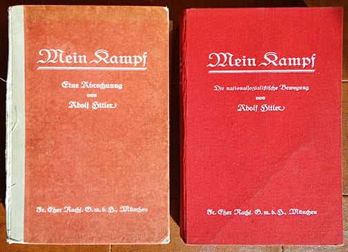 "1925 / 1927 TWO VOLUME SET OF 1st EDITIONS OF ADOLF HITLERS ""MEIN KAMPF"""