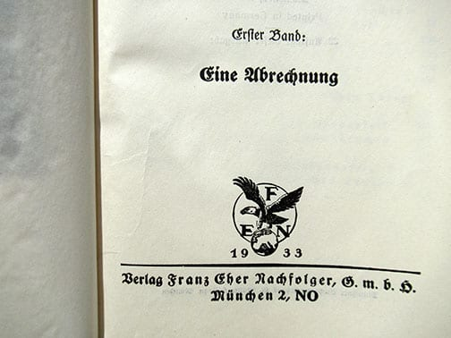 """TWO VOLUME BOXED PAPERBACK EDITION OF ADOLF HITLERS """"MEIN KAMPF"""""""