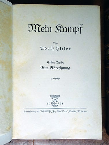 "2 VOLUME SPECIAL EDITION SETS OF ADOLF HITLERS ""MEIN KAMPF"" c"