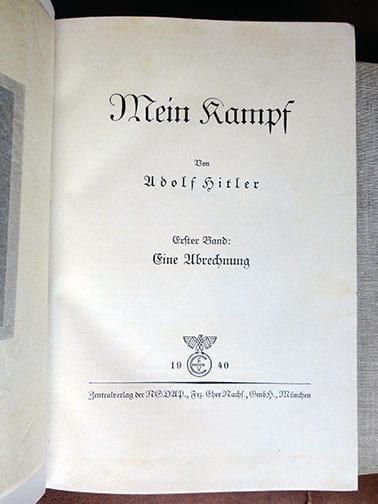 "2 VOLUME SPECIAL EDITION SETS OF ADOLF HITLERS ""MEIN KAMPF"" d"