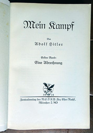 "2 VOLUME SPECIAL EDITION SETS OF ADOLF HITLERS ""MEIN KAMPF"" e"