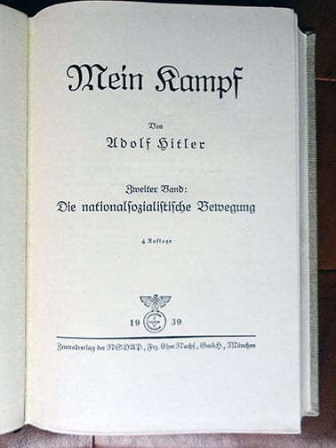 "2 VOLUME SPECIAL EDITION SETS OF ADOLF HITLERS ""MEIN KAMPF"" a"