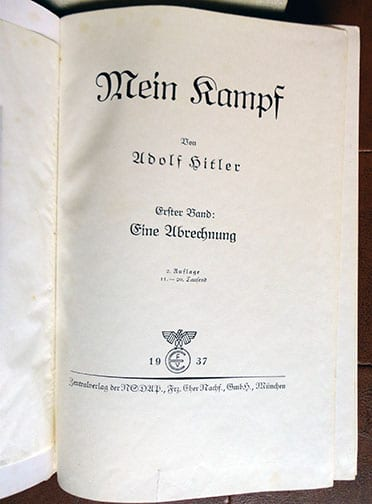 """1934-1939 TWO VOLUME SPECIAL EDITION OF ADOLF HITLERS """"MEIN KAMPF"""" c"""