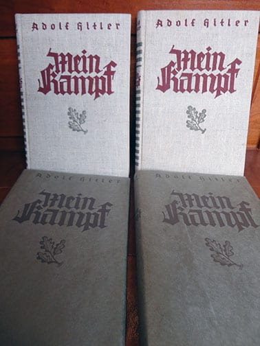 """1934-1939 TWO VOLUME SPECIAL EDITION OF ADOLF HITLERS """"MEIN KAMPF"""" a"""