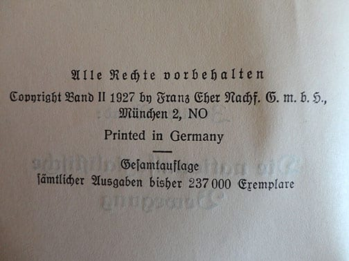 """1932 FIRST EDITION 2 VOLUME PAPERBACK EDITION OF ADOLF HITLERS """"MEIN KAMPF"""""""