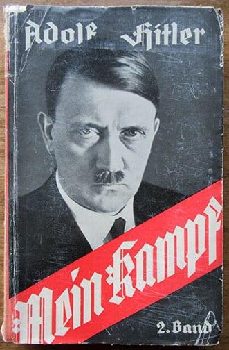 """1933 TWO VOLUME PAPERBACK EDITION OF ADOLF HITLERS """"MEIN KAMPF"""""""