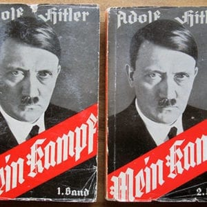 "1936 TWO VOLUME PAPERBACK EDITION OF ADOLF HITLERS ""MEIN KAMPF"""