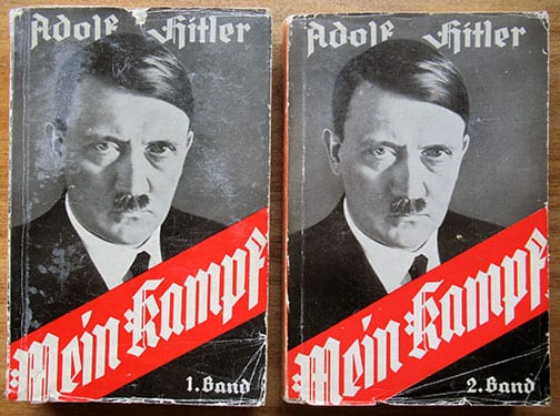 """1936 TWO VOLUME PAPERBACK EDITION OF ADOLF HITLERS """"MEIN KAMPF"""""""