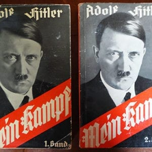 """1937 TWO VOLUME PAPERBACK EDITION OF ADOLF HITLERS """"MEIN KAMPF"""""""