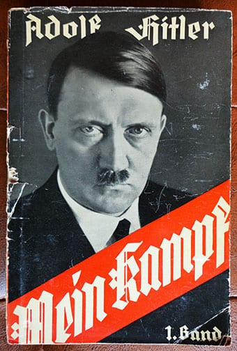 "1937 TWO VOLUME PAPERBACK EDITION OF ADOLF HITLERS ""MEIN KAMPF"""