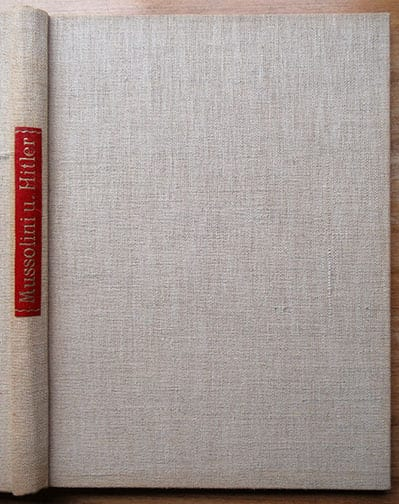 HEINRICH HOFFMANN PHOTO BOOKS ON HITLER WITH MUSSOLINI