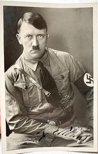 ADOLF HITLER SIGNED POSTCARD