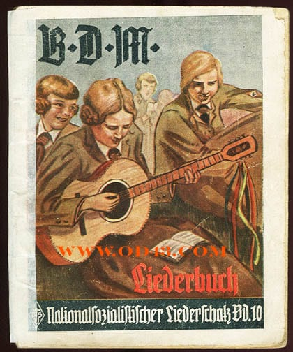 1933 BDM BOOKLET WITH NATIONAL SOCIALIST SONGS